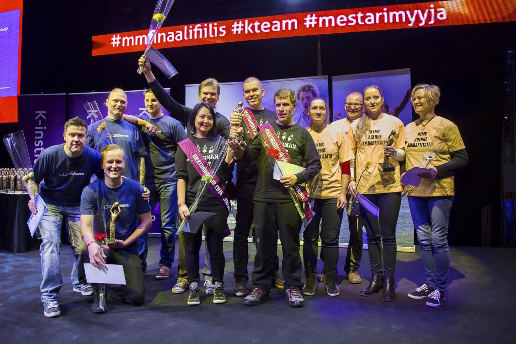 K-rauta Passelin pronssijoukkueessa kisasivat Camilla Sampo,  Esa Oksanen, Julia Rouhiainen ja Virpi Hoikkala.