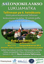 Salonjokilaakson mukana Tallinnaan